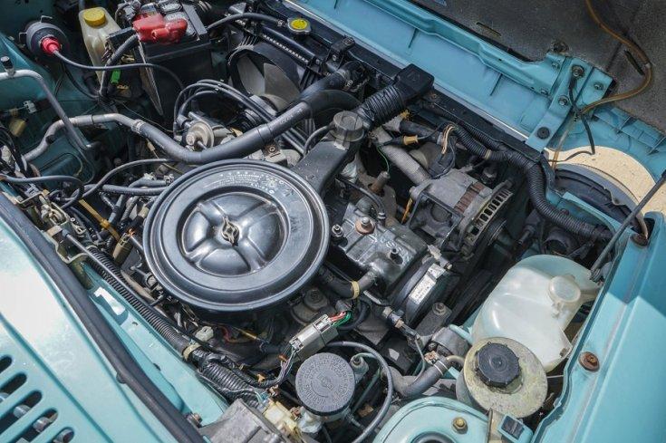 1989 Nissan Pao motortere, felülnézet, jobbról