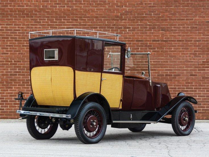 1924 Renault Type NN Town Car Labourdette, bordó limuzin, hátulnézet, oldalnézet, jobbról, alulról fotózva
