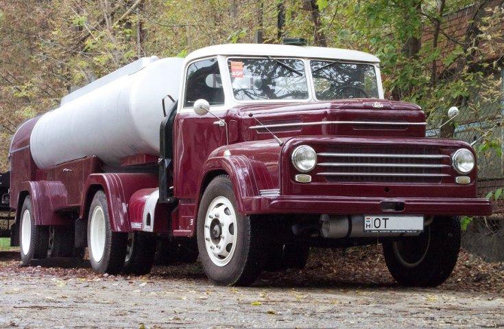 1959 Csepel D-450, bordó platós változat