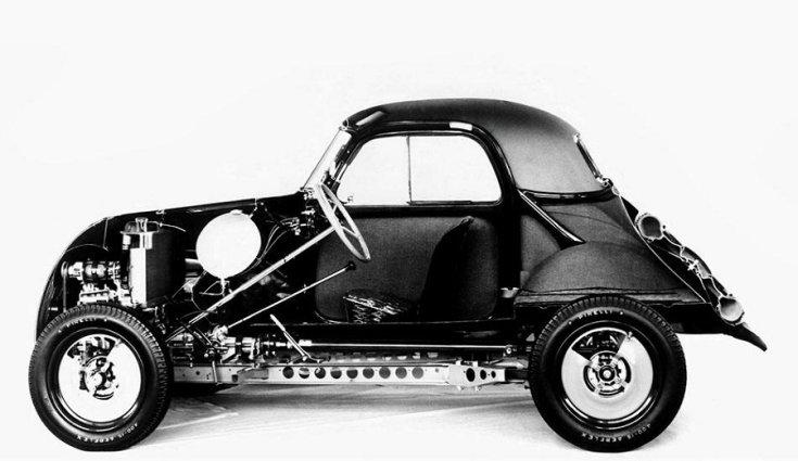 Fiat 500 Topolino röntgenképe, balról