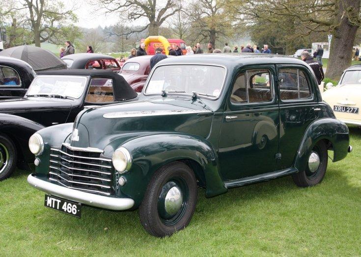 1949 Vauxhall Wyvern LIX, mélyzöld limuzin