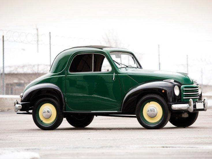 Fiat 500C Topolino, zöld kabrió kupé