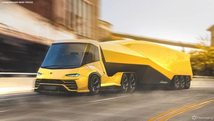 Lamborghini Urus koncepció kamion féloldalról