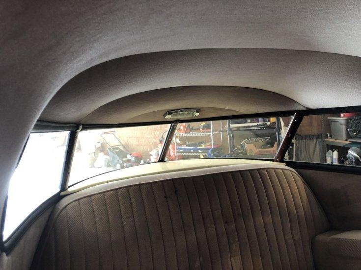 1948 Studebaker Starlight Coupe hátsó szélvédője, belülről