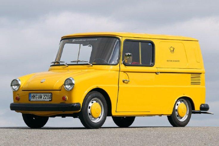1964 Volkswagen Typ 147 Fridolin, sárga postásautó
