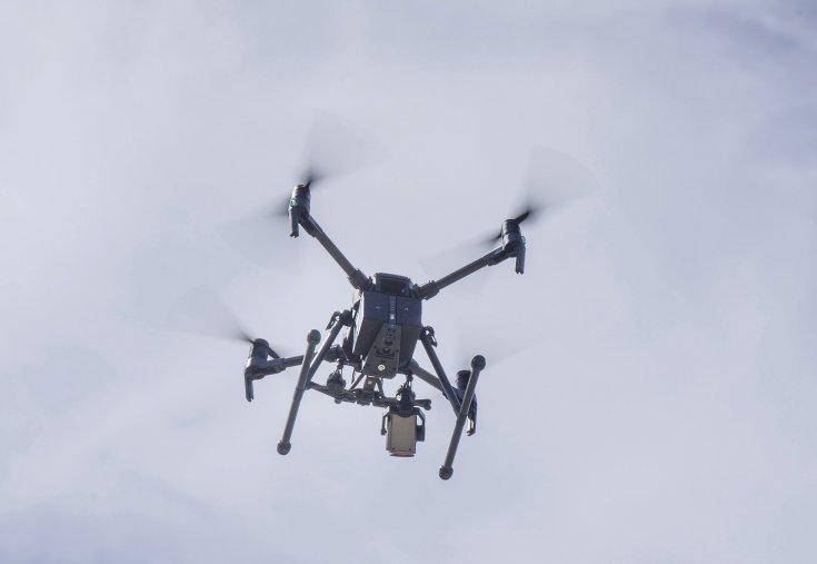 Rendőrségi drón a levegőben
