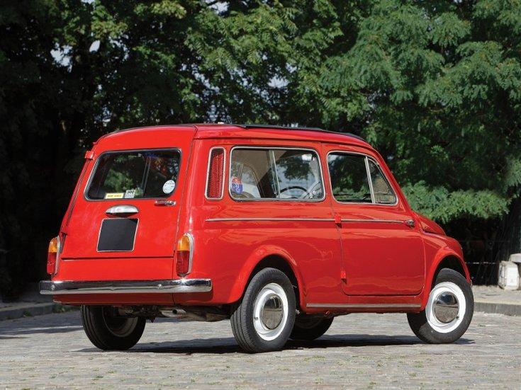 1960 Fiat 500 Giardiniera, vörös kombi feneke