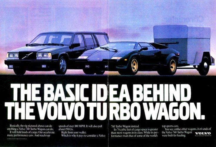 Volvo 740 Turbo Wagon reklámja