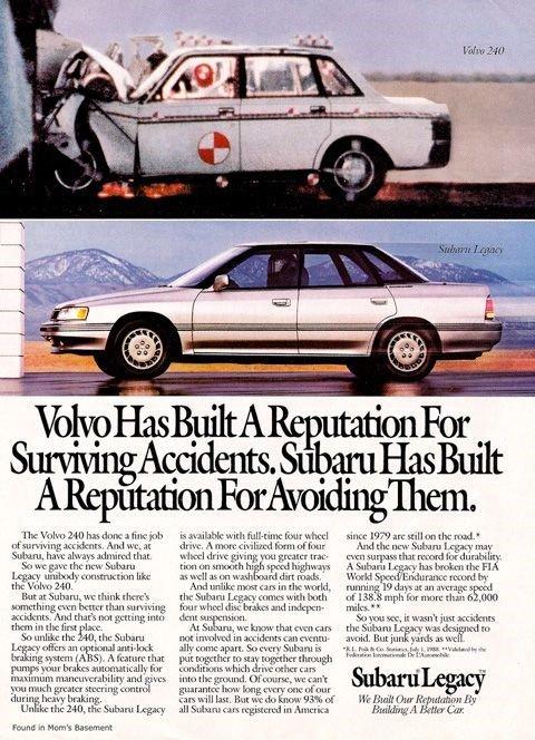 Subaru Legacy reklámja