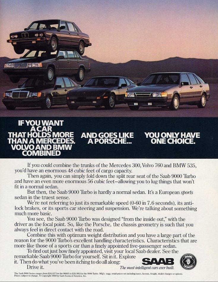 Saab 9000 Turbo reklámja