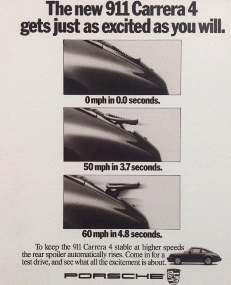 Porsche 911 Carrera 4 reklámja