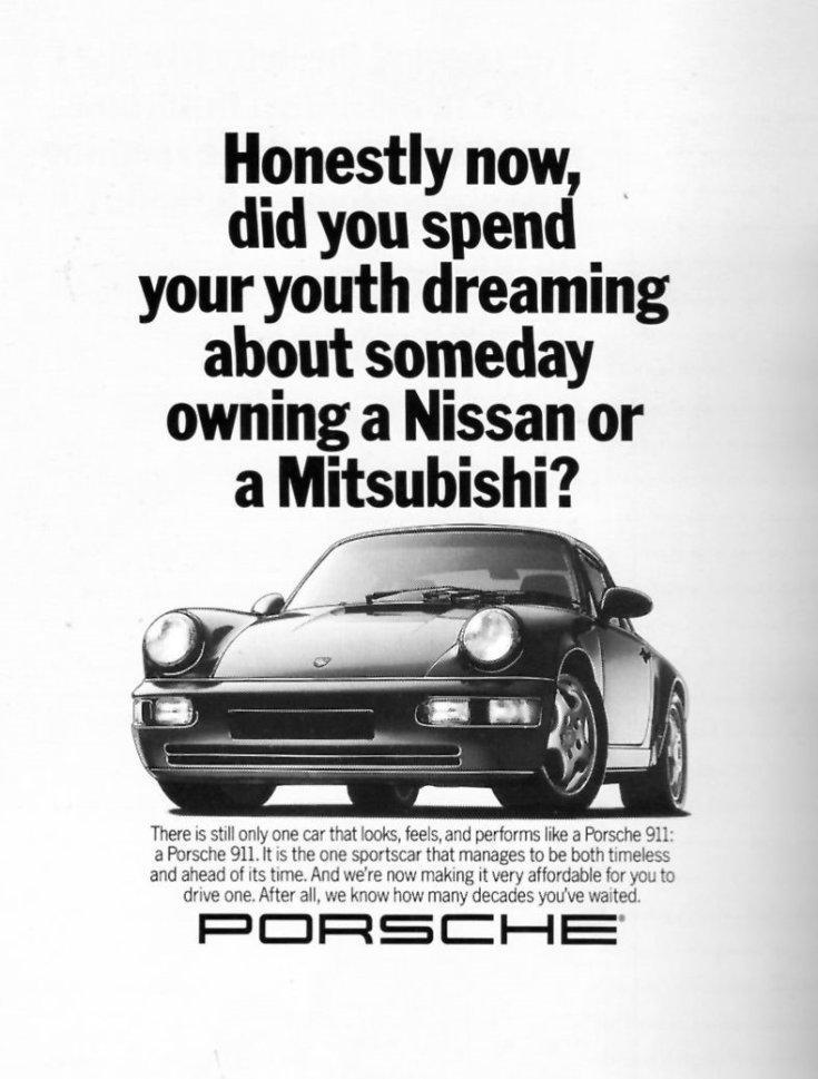 Porsche 911 reklámja