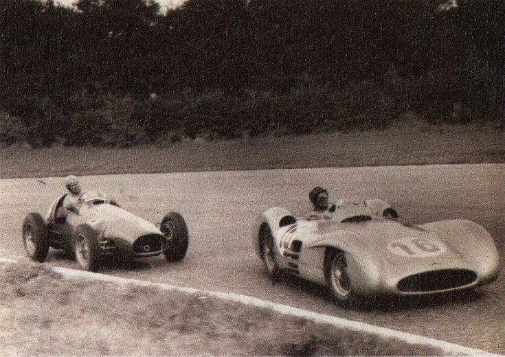 Fangio és Ascari az 1954-es Olasz Nagydíjon