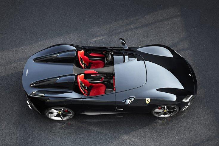 Ferrari Monza SP2 felülnézetből