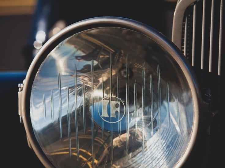1924 Isotta Fraschini, Tipo 8A, első lámpa, elölnézet