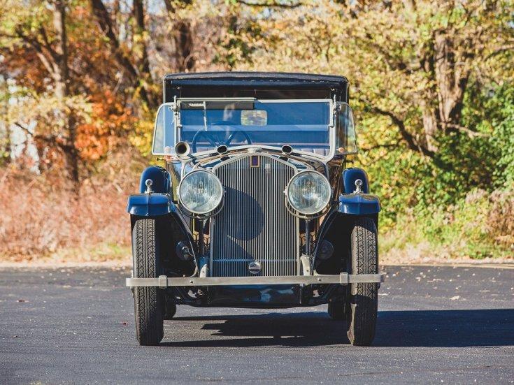 1924 Isotta Fraschini, Tipo 8A, kék, landaulet, elölnézet, frontális