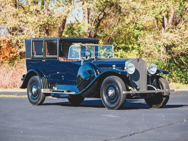 1924 Isotta Fraschini, Tipo 8A, kék, landaulet, elölnézet, oldalnézet, jobbról