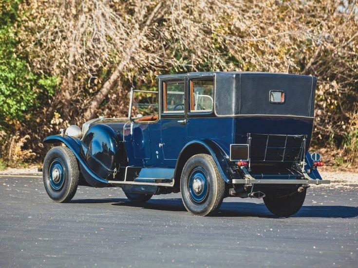 1924 Isotta Fraschini, Tipo 8A, kék, landaulet, hátulnézet, oldalnézet, balról
