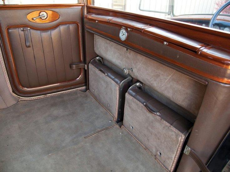 1924 Isotta Fraschini, Tipo 8A, Landaulet, pótülések zárva, hátulnézet, oldalnézet, jobbról