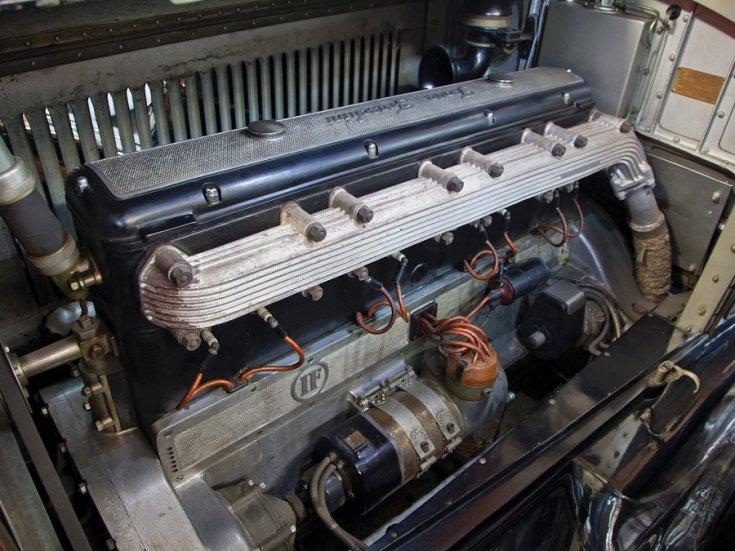 1924 Isotta Fraschini, Tipo 8A, soros 8 hengeres motor, elölnézet, oldalnézet, balról