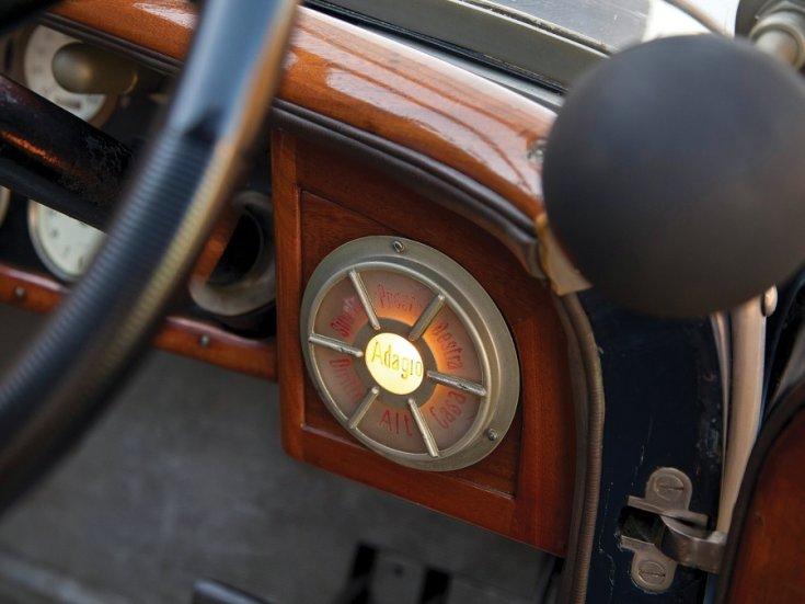 1924 Isotta Fraschini, Tipo 8A, műszerfal, oldalnézet, balról