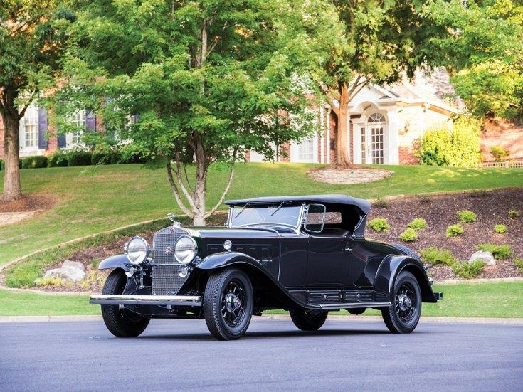 1931 Cadillac Series 452 V16, fekete roadster, elölnézet, oldalnézet, balról1931 Cadillac Series 452 V16, fekete roadster, elölnézet, oldalnézet, balról