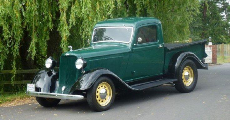 1934 Dodge Series KC pick up, zöld, oldalnézet, jobbról