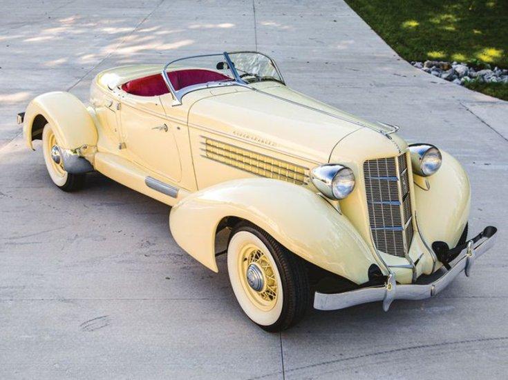 1935 Auburn 851 Supercharged Speedster szemből