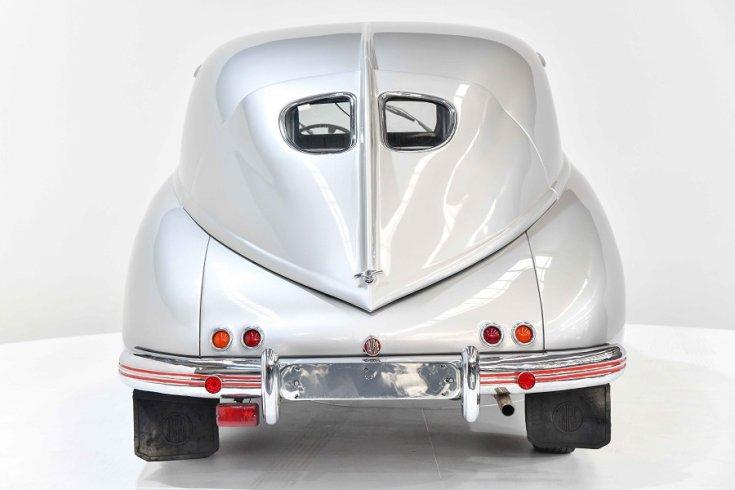 1950 Tatra T600 Tatraplan, ezüst, hátulnézet, szemből