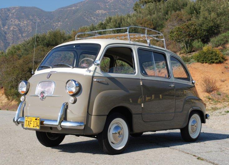 Fiat 600 Multipla, 1959-es, hegyvidéki tájon
