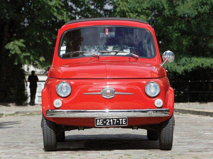 1960 Fiat 500 Giardiniera, vörös, kombi, elölnézet, szemből