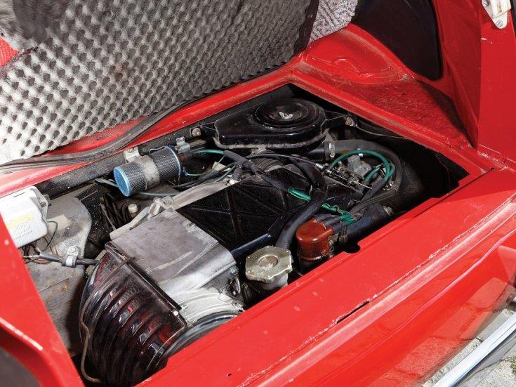 1960 Fiat 500 Giardiniera, piros, kombi, motortér, felülnézet, oldalnézet, balról