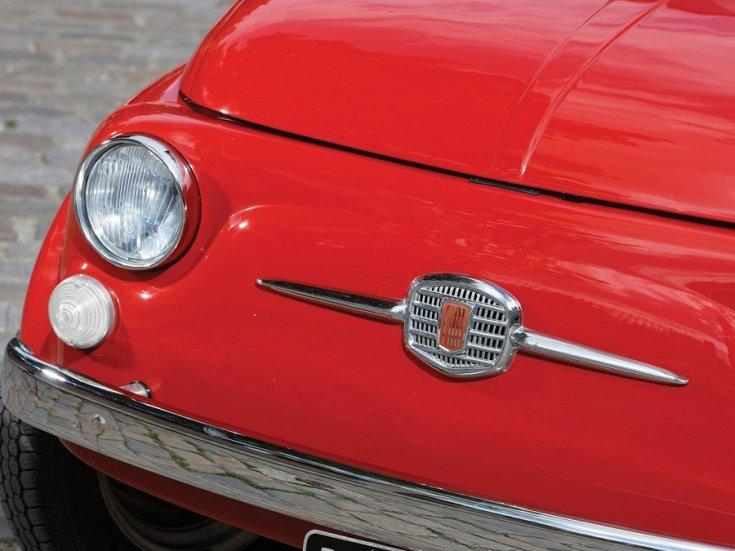 1960 Fiat 500 Giardiniera, vörös, kombi, elölnézet, oldalnézet, balról