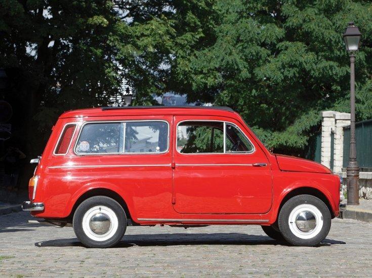 1960 Fiat 500 Giardiniera, piros, kombi, oldalnézet, jobbról