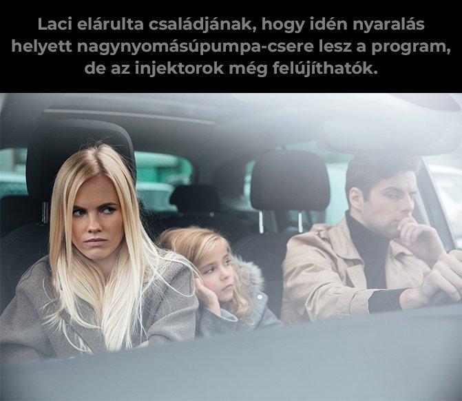 Család autóban