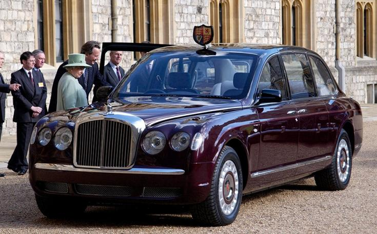 2002 Bentley Armange State Limousine, bordó, elölnézet, oldalnézet, balról