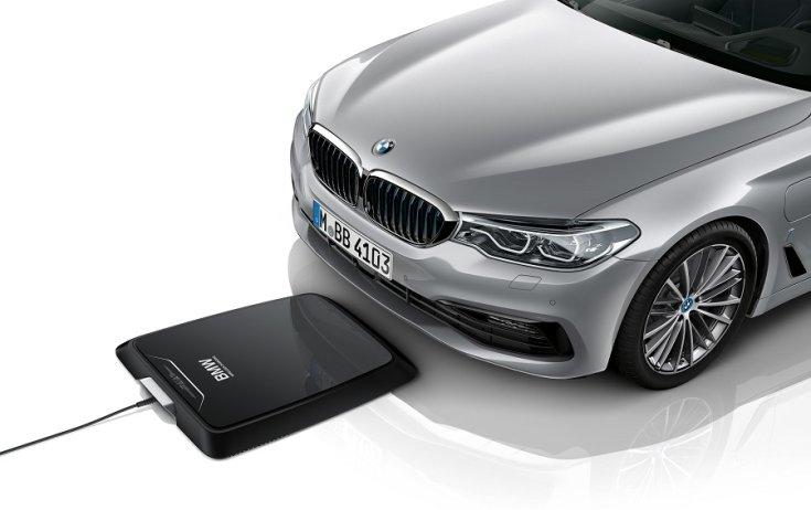 BMW 530e iPerformance vezeték nélküli töltés