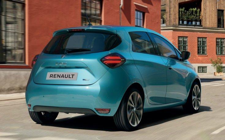 Renault Zoe 2020 hátulja