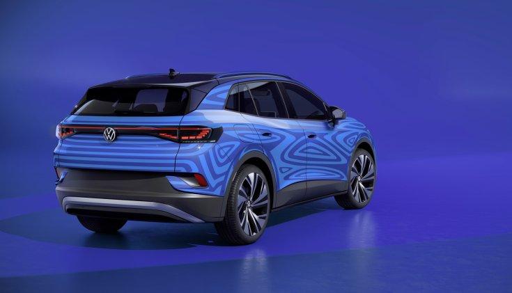 2020-as Volkswagen ID.4 látványterv hátulról
