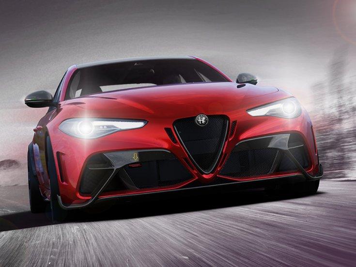 2021 Alfa Romeo Giulia GTA, menet közben szemből