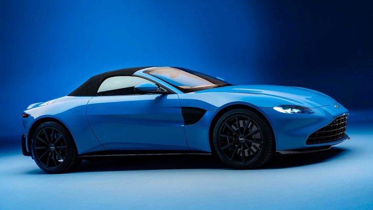 Az Aston Martin Vantage Roadster oldalról tetővel