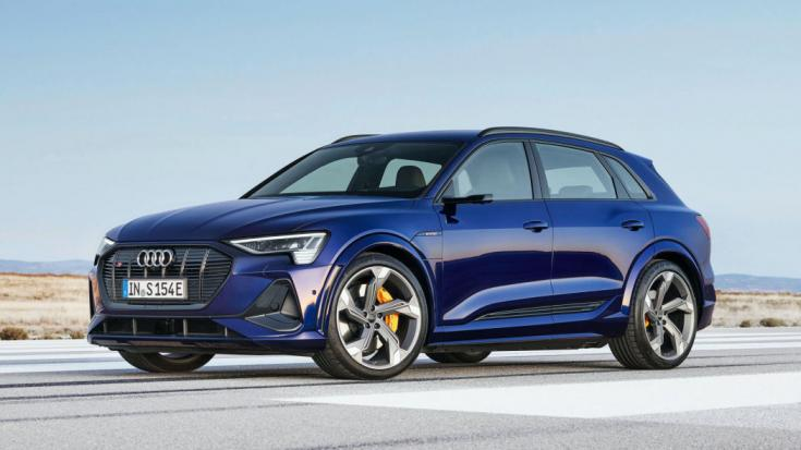 2021-es Audi e-tron S elölről
