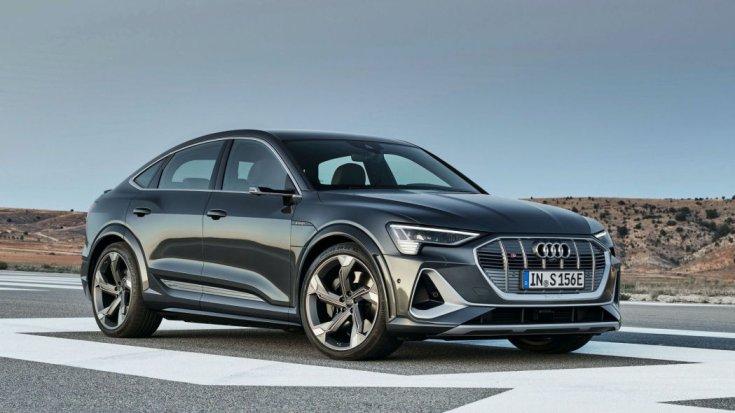 2021-es Audi e-tron Sportback S elölről