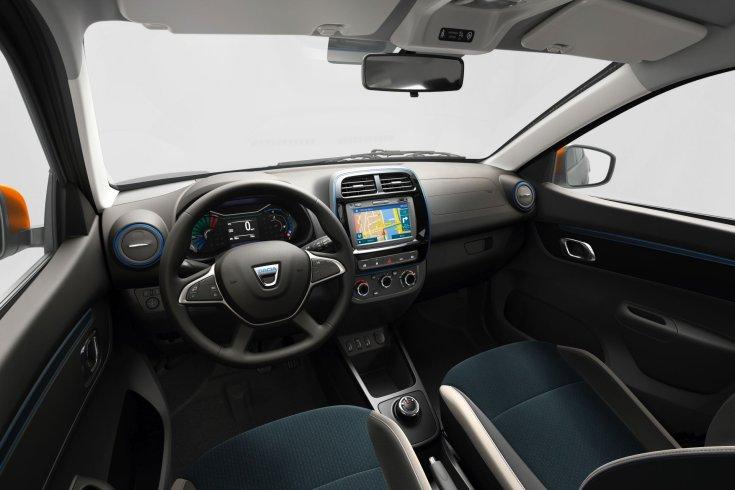 2020-as Dacia Sprint tisztán elektromos modell belső tere