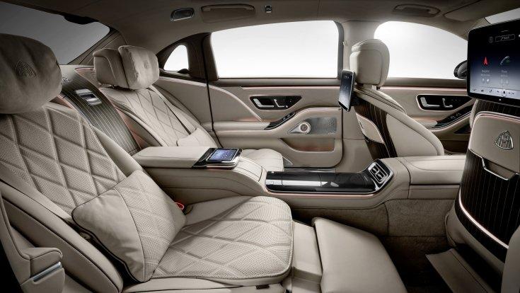 Új 2021-es Mercedes-Maybach S-osztály belső tere és annak különleges ülései