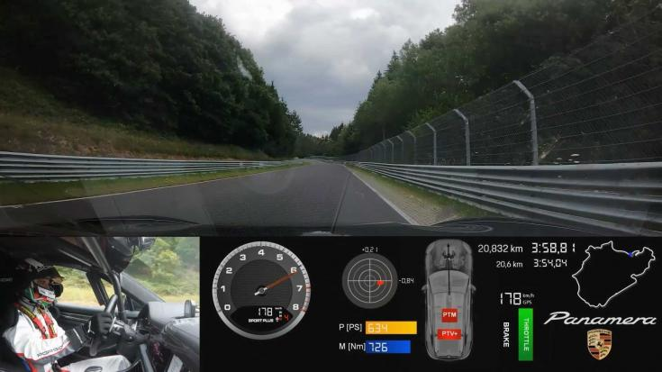 frissített Porsche Panamera Nürburgring rekord