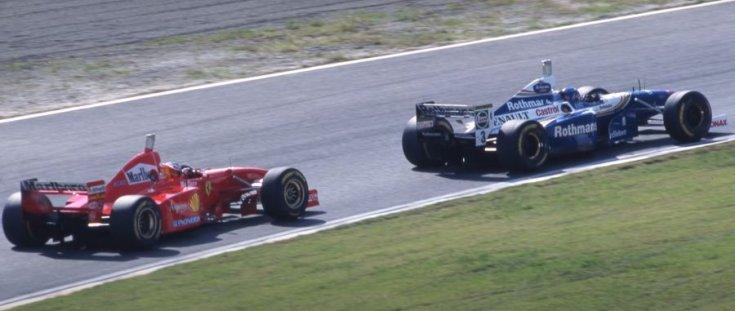 Schumacher és Villeneuve