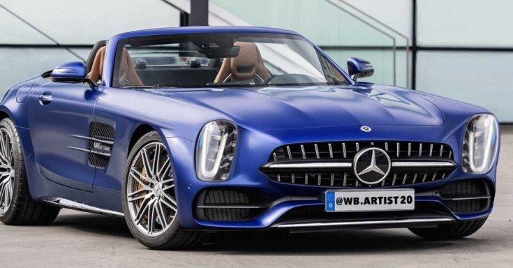 Mercedes 300 SL render fotó