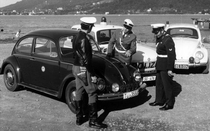 Volkswagen Bogár rendőrautó