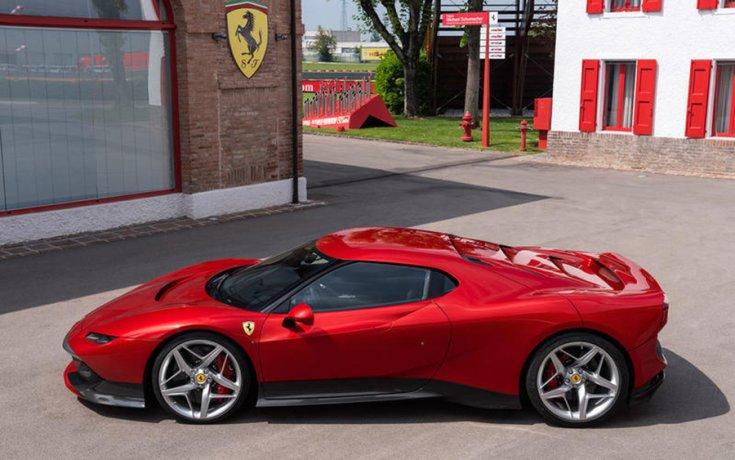 Ferrari SP38 Deborah (2018) oldalról